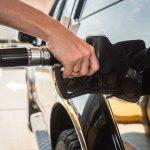 refueling. gas station. diesel truck.